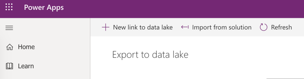 Export CDS data to Data Lake